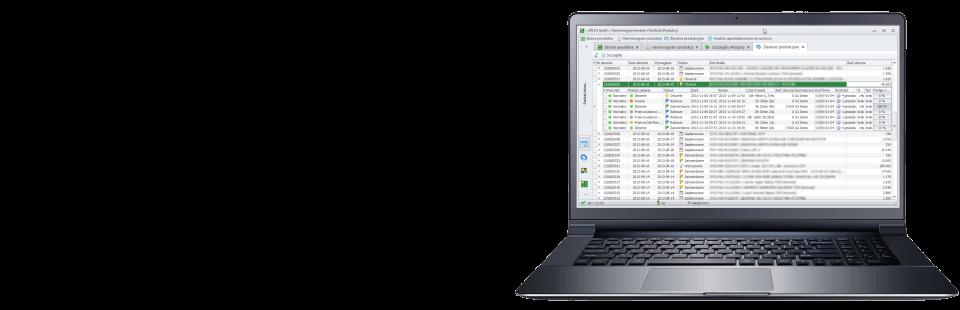Proste i efektywne planowanie produkcji, wykres Gantta on-line dla użytkowników, planowanie zleceń lub zamówień dla ERP/MRP.